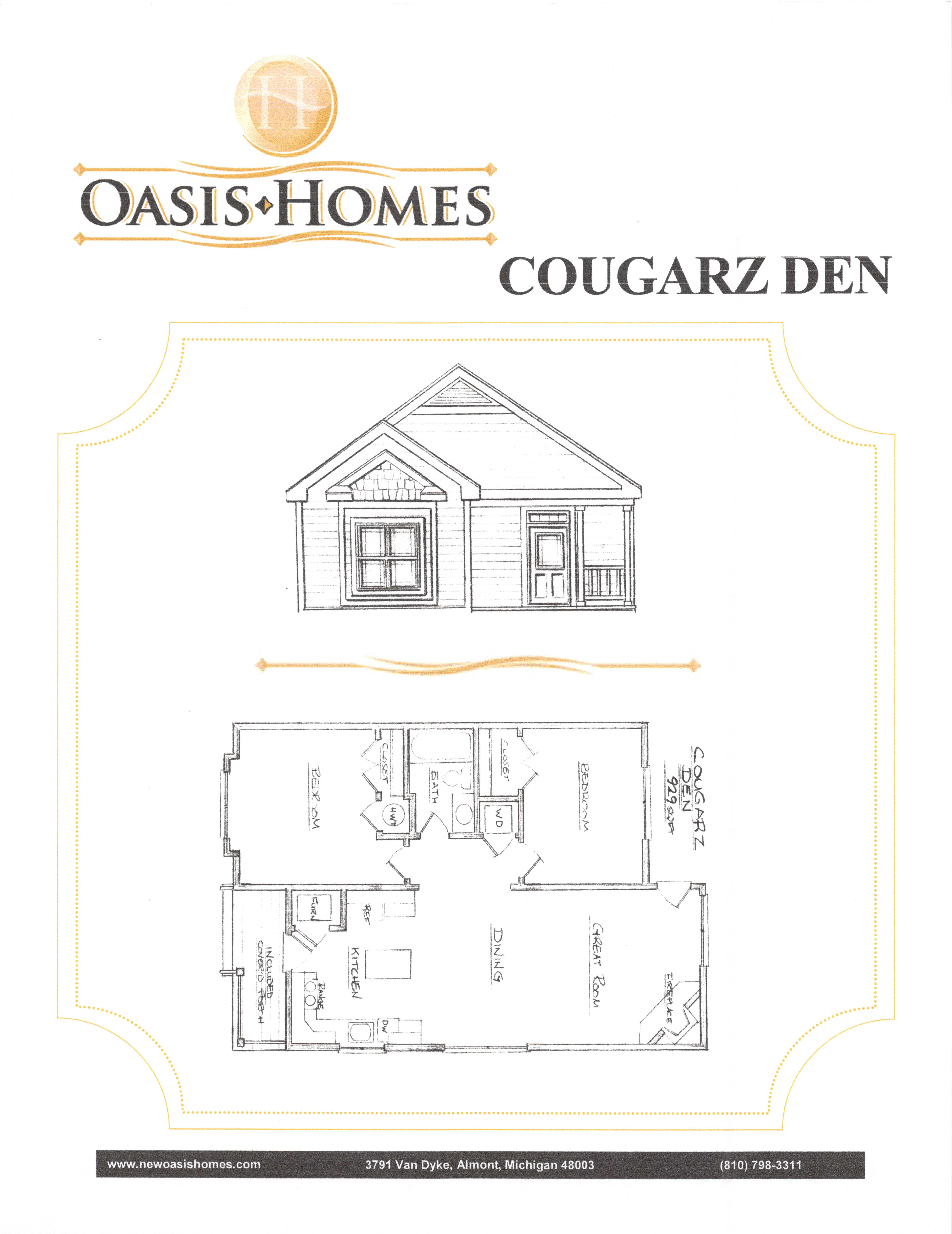 Oasis Cougarz Mini Home